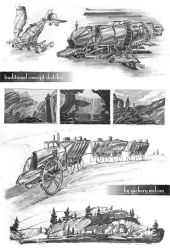 Traditional Concept Sketches by ZacharyMcLean