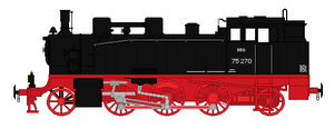 DRG BR75. 1-3 Liliput Passenger Tank (Updated) by GreyhoundProductions