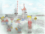 Australian Cartoon Characters and Railway Crossing by WillM3luvTrains