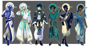 Adopts 108-113 [Auction - Closed]aka Oops All Blue by sandflake-adoptables