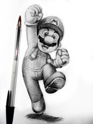 Day #2: Mario by Anadia-Chan