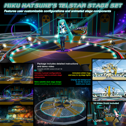 MMD Miku Hatsune Telstar Animated Stage Set by Trackdancer