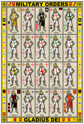 Military Orders Knights and Arms Poster by williammarshalstore