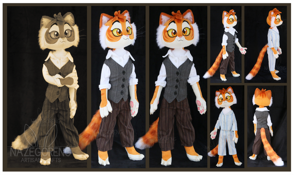 Lackadaisy: Freckle Custom Plush by Nazegoreng