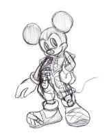 King Mickey .:Sketch:. by SonicHearts