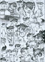 A page full of Meos by meokami