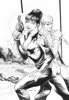 Modesty Blaise: Agent X Special Issue Cover by boysicat