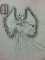 angel- my drawing by littlebluewildfire