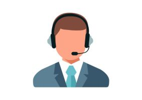 Call Center Operator Flat Vector Icon by superawesomevectors