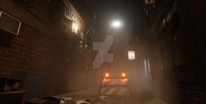 Rainy Days - Alley - Unreal Engine 4 by uuproductions