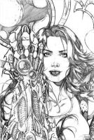 Witchblade 99 cover by AdrianaMelo