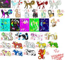 2-3 Point Adoptables :CLOSED: SALE by TheDragonsDomain