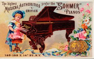 Victorian Advertising -  Preferred Pianos by Yesterdays-Paper