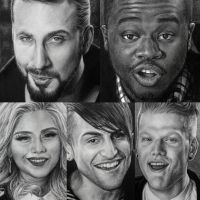 Collage of Pentatonix cheerleader drawings by can727