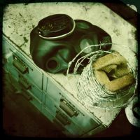 gas mask and wire by billy2917