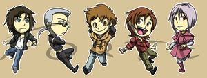 Stickers: Wolf's Rain by forte-girl7