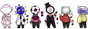 The Hotel Crew - Object heads by PastelGlaze
