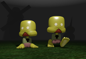Petscop main character 3D model by SeriousNorbo