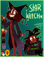 Star Witch (Halloween Noa reference sheet) by NoasDraws