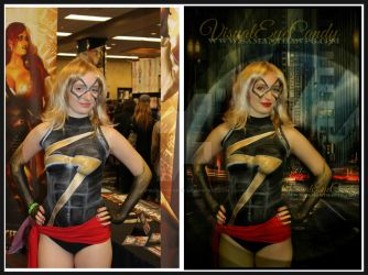 Before and After of VisualEyeCandy Miss Marvel