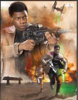 Star Wars: The Force Awakens Finn promo poster by Artlover67