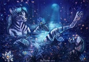 Night swim by FlashW