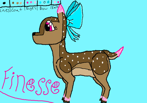 Finesse the Deer {REDRAWN} by Ally639