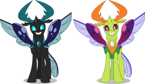 Vector #751 - King Thorax #4 (Old/New Colors) by DashieSparkle