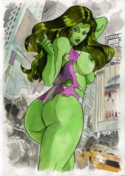 She Hulk Commission by cuccadesign