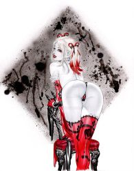 eBas Harley Quinn in a Thong done in Copic Marker by ebas