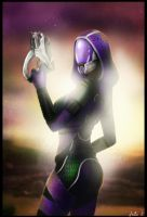Tali Zorah vas Normandy by GiuliaSt