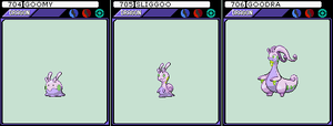 Goomy, Sliggoo, and Goodra