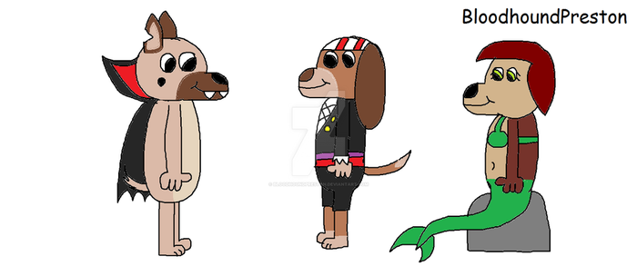 All Dogs Halloween Costumes by BloodhoundPreston