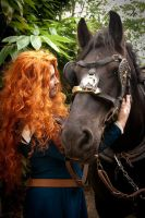 Merida and Angus by Orochimarisu