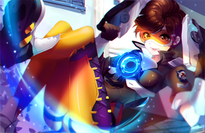 OVERWATCH: Tracer - .NSFW optional. by SquChan