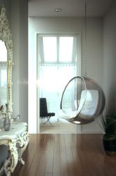 Suspended Chair - Interior Scene by pancreasboy