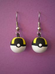 Ultra Ball Earrings by Omonomopoeia