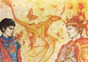 King and Lionheart - Arthur and Merlin by arsidoas