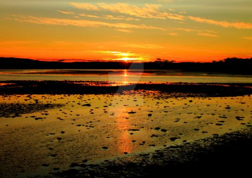 Sunset from Dumbarton Rock 2 by Crannogphotographic