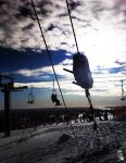 Ski lift by wellgraphic