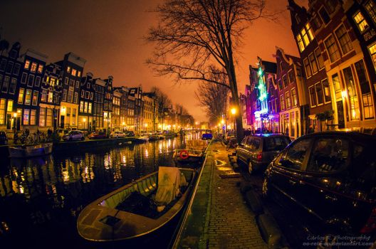Amsterdam At Night by oO-Rein-Oo