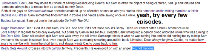 all the SPN tropes by regates