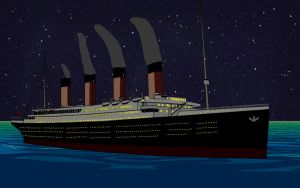 RMS Titanic Sailing At Night by KaneTakerfan701