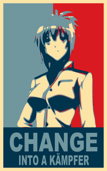 Obama Poster - Kampfer by AstyanaxAstinia