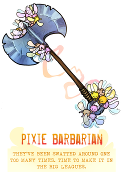 Day 41 - Pixie Barbarian by flatw00ds