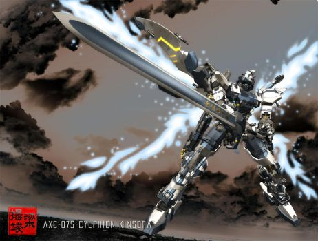 AXC-07S Cylphion FE Sword Pose by shiningcin