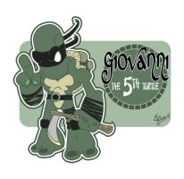 Giovanni the 5th Turtle by shane613