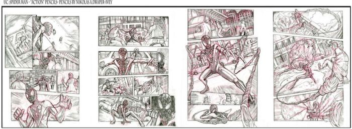 UC: SPIDER MAN ACTION PAGES by NikolasDraperIvey