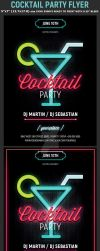 Neon Cocktail Party Flyer Template by Hotpindesigns