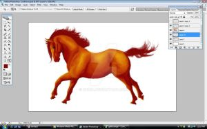 WIP Red Horse 2 by Dhria